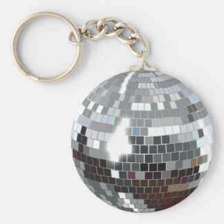Disco Ball Basic Round Button Keychain