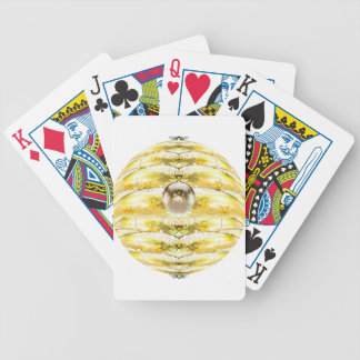 Disco Ball Bee Hive Pattern Bicycle Playing Cards