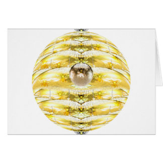 Disco Ball Bee Hive Pattern Card