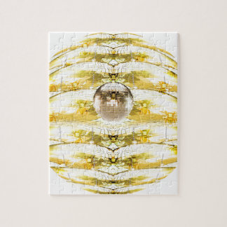 Disco Ball Bee Hive Pattern Jigsaw Puzzle