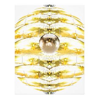 Disco Ball Bee Hive Pattern Letterhead