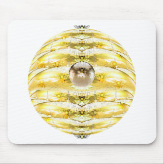 Disco Ball Bee Hive Pattern Mouse Pad