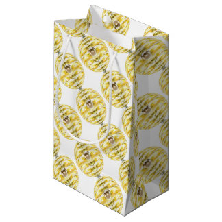 Disco Ball Bee Hive Pattern Small Gift Bag