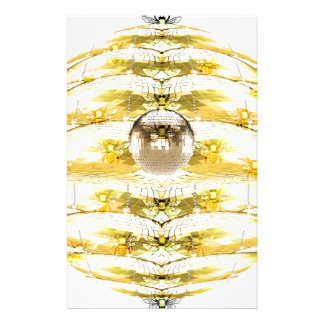 Disco Ball Bee Hive Pattern Stationery