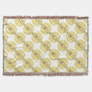 Disco Ball Bee Hive Pattern Throw Blanket