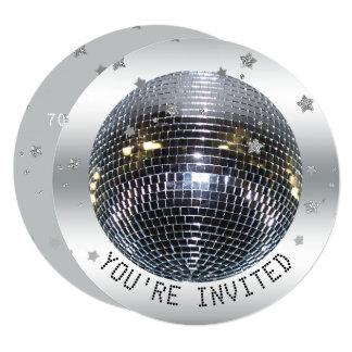 Disco Ball Birthday Party Disco Dance Party Circle Card