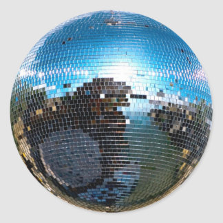 disco ball classic round sticker