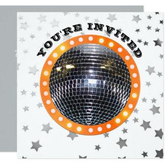 Disco Ball Dance Birthday Party | Retro 70s Disco Card