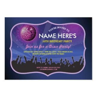 Disco Ball Dance Party Birthday Invitation