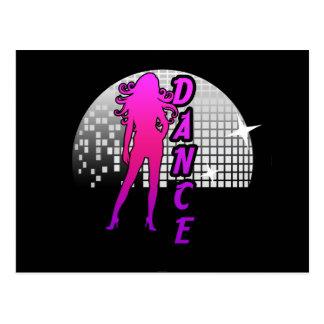 Disco Ball Dancer. Postcard