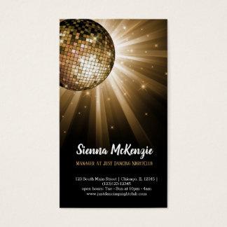 Disco ball gold business card