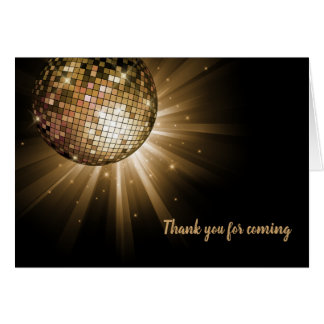 Disco ball gold card