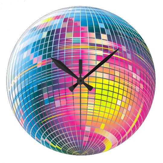 Disco Ball Graphic Design Wall Clock