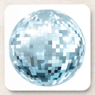 Disco Ball Illustration Drink Coaster