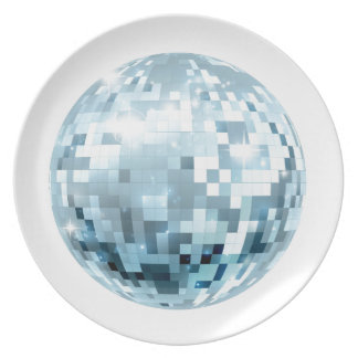 Disco Ball Illustration Plate