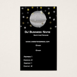 Disco Ball & Lights Business Card