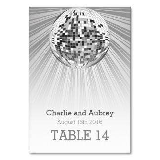 Disco Ball Party Table Card
