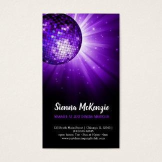 Disco ball purple business card