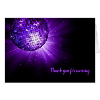Disco ball purple card