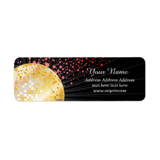 Disco ball, Return Address Labels