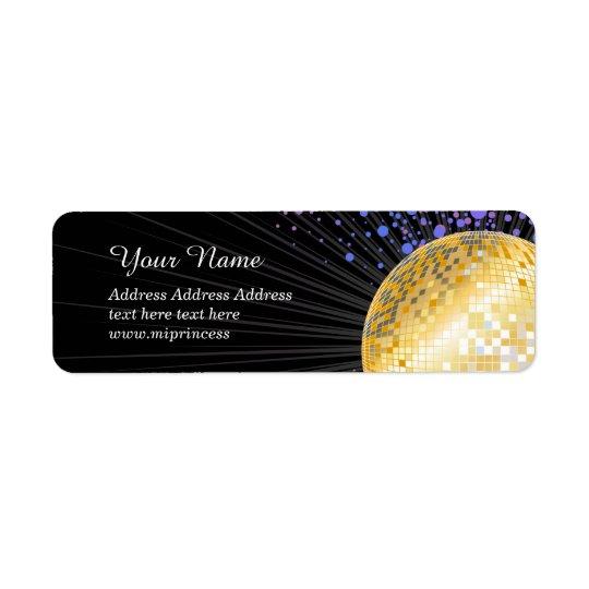 Disco ball, Return Address Labels