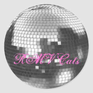 Disco Ball, RMV Cats Classic Round Sticker