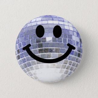Disco Ball Smiley 2 Inch Round Button