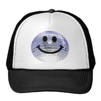 Disco Ball Smiley Mesh Hats