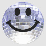 Disco Ball Smiley Stickers