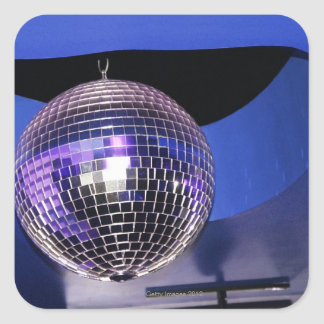 Disco ball square sticker