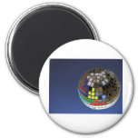 disco ball with copy space fridge magnet