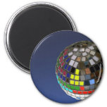 disco ball with copy space refrigerator magnets