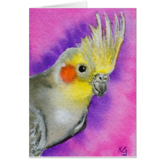 Disco Cockatiel Card