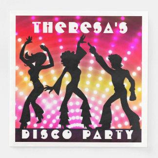 Disco Dance Party Dinner Napkin Paper Napkins