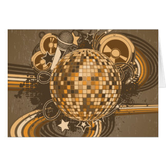 Disco ~ Disco Ball Retro 1980s 80s Card