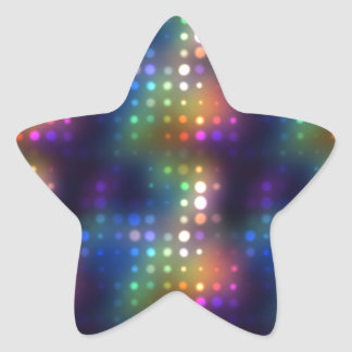 Disco Dots Star Sticker