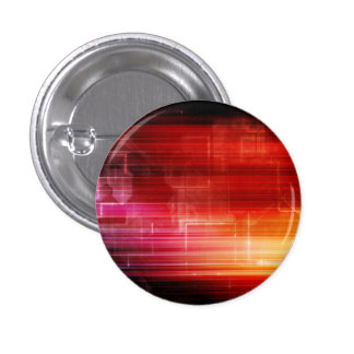 Disco Electronic Music Techno Party Background Art 1 Inch Round Button
