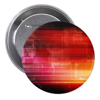 Disco Electronic Music Techno Party Background Art 3 Inch Round Button