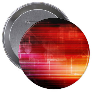 Disco Electronic Music Techno Party Background Art 4 Inch Round Button