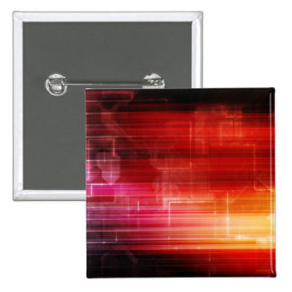 Disco Electronic Music Techno Party Background Art 2 Inch Square Button