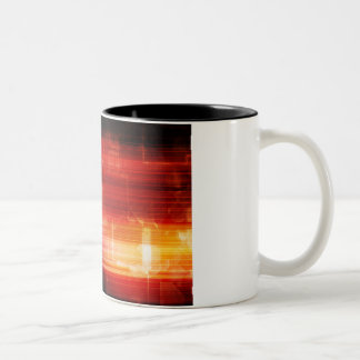 Disco Electronic Music Techno Party Background Art Two-Tone Coffee Mug