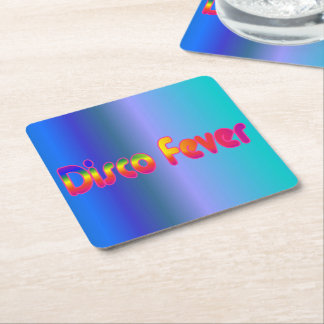 Disco Fever 2 Square Paper Coaster