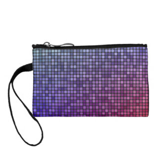 Disco fever pixel mosaic coin wallets