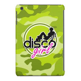 Disco girl bright green camo camouflage iPad mini retina cases