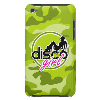 Disco girl bright green camo camouflage Case-Mate iPod touch case