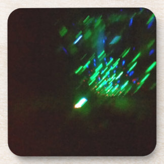 disco green burst at night coasters