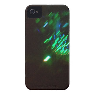 disco green burst at night iPhone 4 case