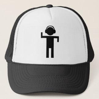 disco head phone type icon trucker hat
