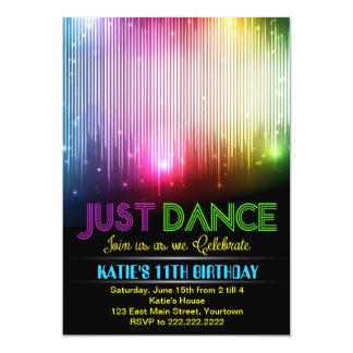 """Disco Just Dance Party Invitation 5"""" X 7"""" Invitation Card"""