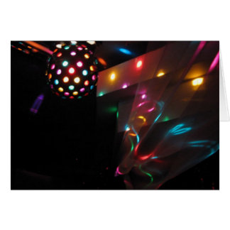 Disco Lights Card